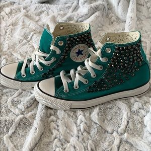 Converse X Free People Studded Teal Converse